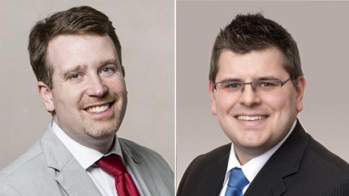 Florian Tussing und Peter Blumenrath