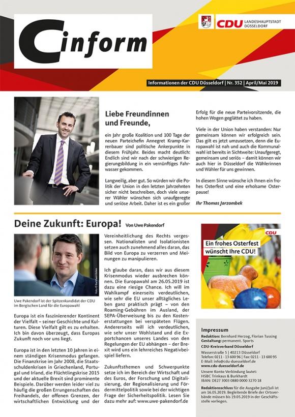 C-Inform: Mitgliedermagazin April/Mai 2019