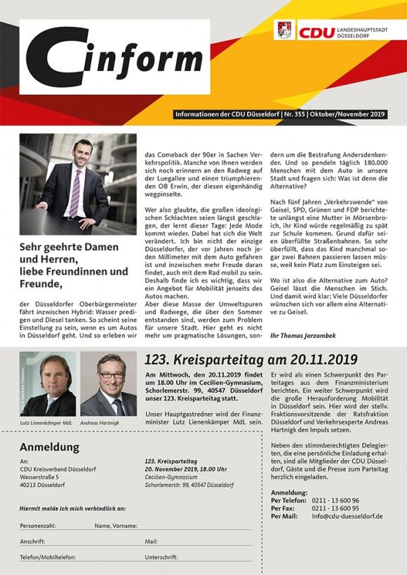 C-Inform: Mitgliedermagazin Oktober/November 2019