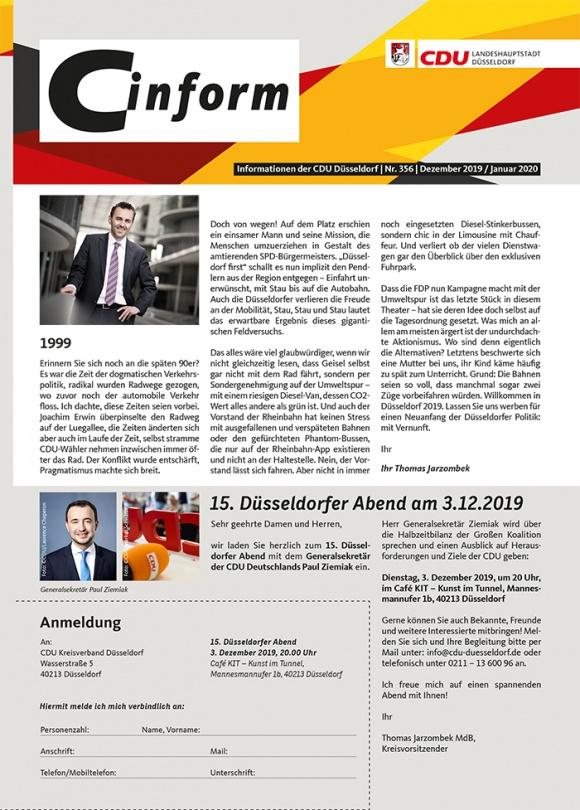 C-Inform: Mitgliedermagazin Dezember 2019/Januar 2020