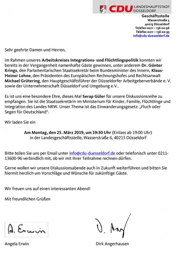 Serap Güler zu Gast bei unserer CDU Düsseldorf