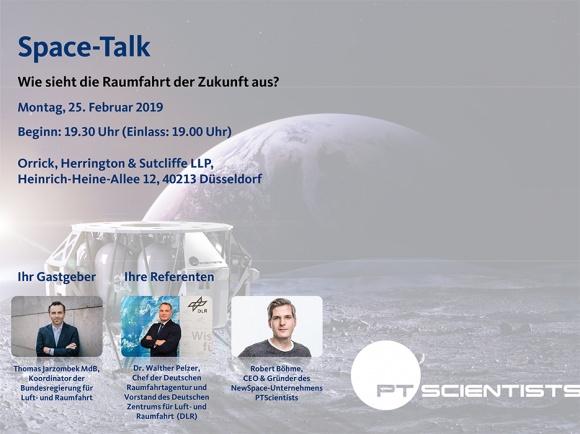"""""""Space-Talk – Wie sieht die Raumfahrt der Zukunft aus?"""""""