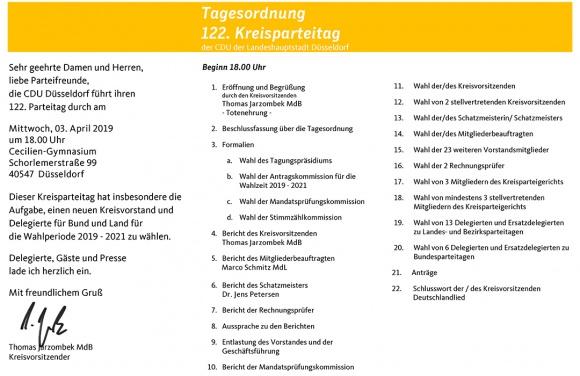 122. Kreisparteitag der CDU Düsseldorf