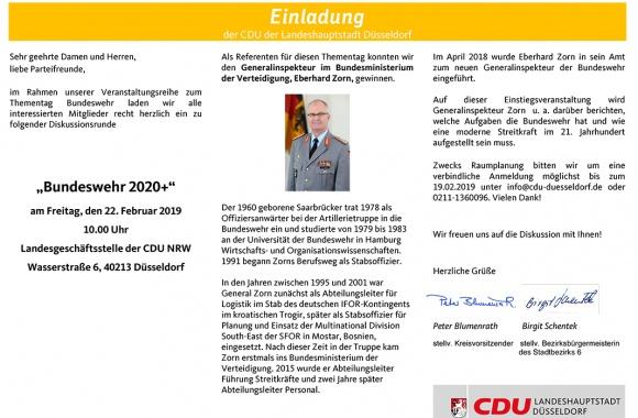 """""""Bundeswehr 2020+"""" mit Generalinspekteur im Bundesministerium der Verteidigung, Eberhard Zorn"""